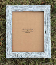 8x10 Flat White Washed rustic barnwood barn wood beach picture photo frame