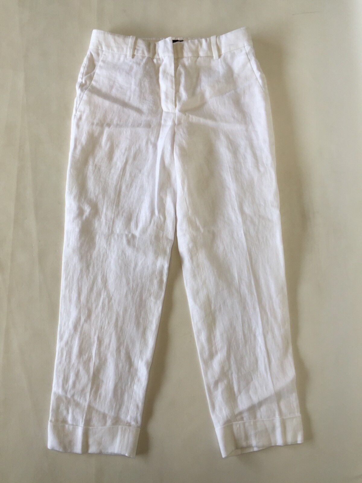 New JCREW Rhodes pant in linen White Size 2 G4372