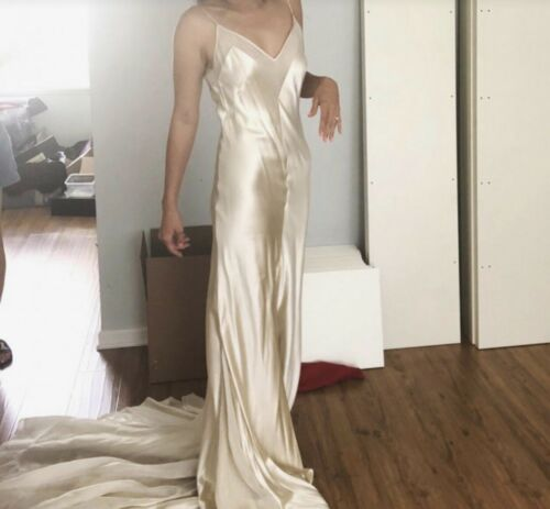 Custom Johanna Johnson Bias Cut Silk Dress - image 1