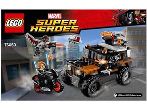 LEGO 76050 Instructions BOOK ONLY BONES HAZARD HEIST Super Heroes 76050 NEW