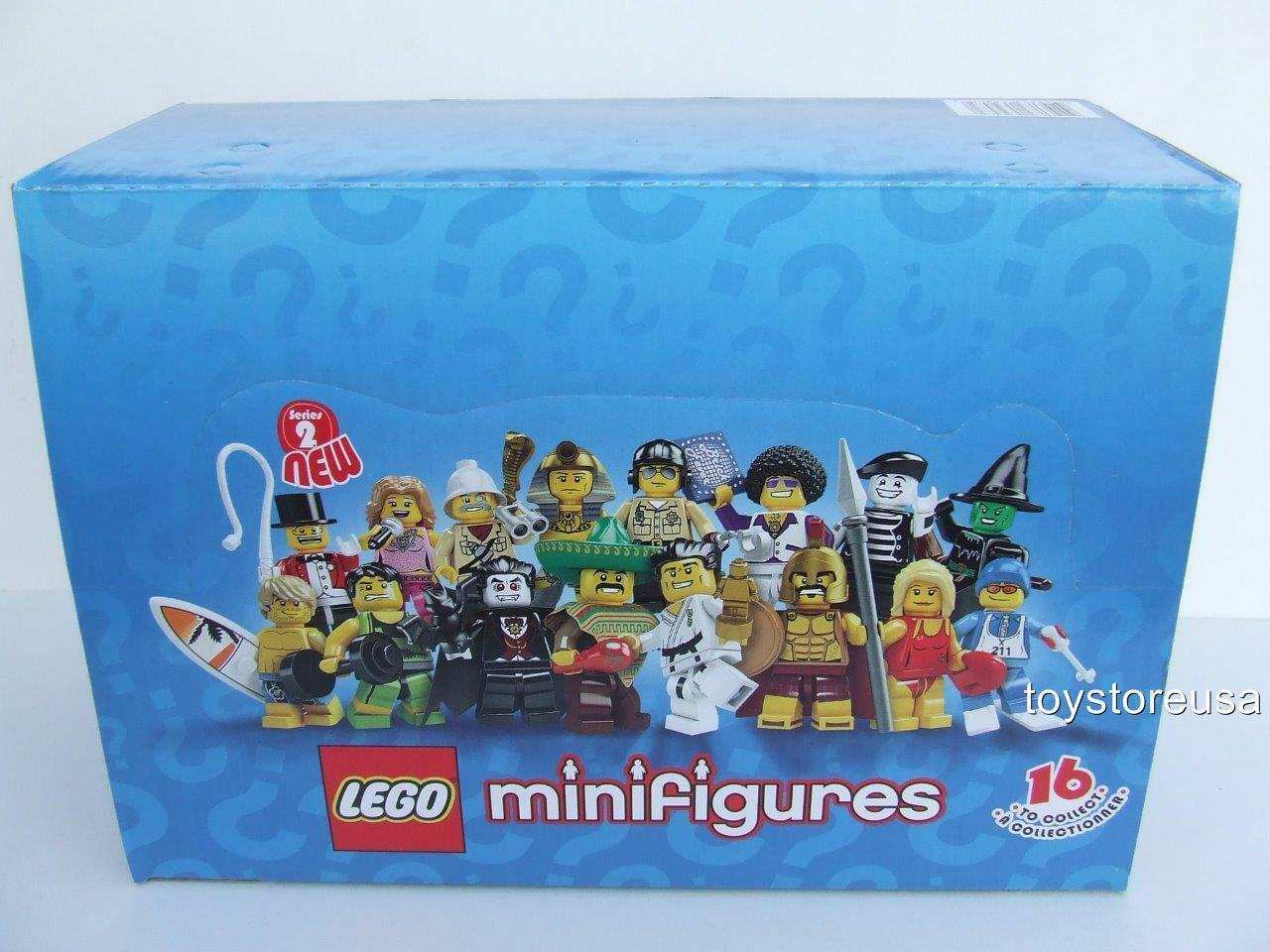 NUEVO  Conjunto de Minifiguras LEGO serie 2 de 60 paquete raro conjunto Caja Sellada (8684)