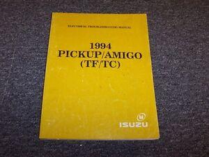 1994 Isuzu PUP P'up Pickup Truck & Amigo SUV Electrical ... on