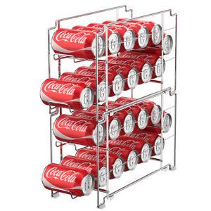 2-Pack-Beverage-Rack-Coke-Dispenser-SimpleHouseware-Stackable-Front-Loading-Can