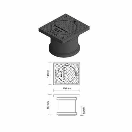 Necoflex Easi Sump Cap Links Radon Sump Connection Point 110mm