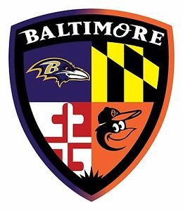 Baltimore Orioles Ravens Fan Sticker Decal Vinyl Ebay