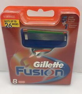 8 Gillette Fusion Lamette rasoio in confezione originale con Numero serie
