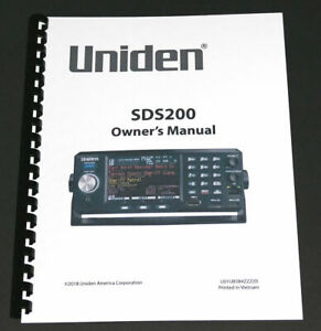 8-1-2-x-11-034-REPRINT-OWNER-039-S-MANUAL-for-the-UNIDEN-SDS200-SCANNER