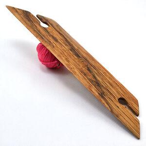 "Small 3/"" Weaving Shuttle For Inkle Loom Tablet Or Card Weaving Handcrafted Oak"