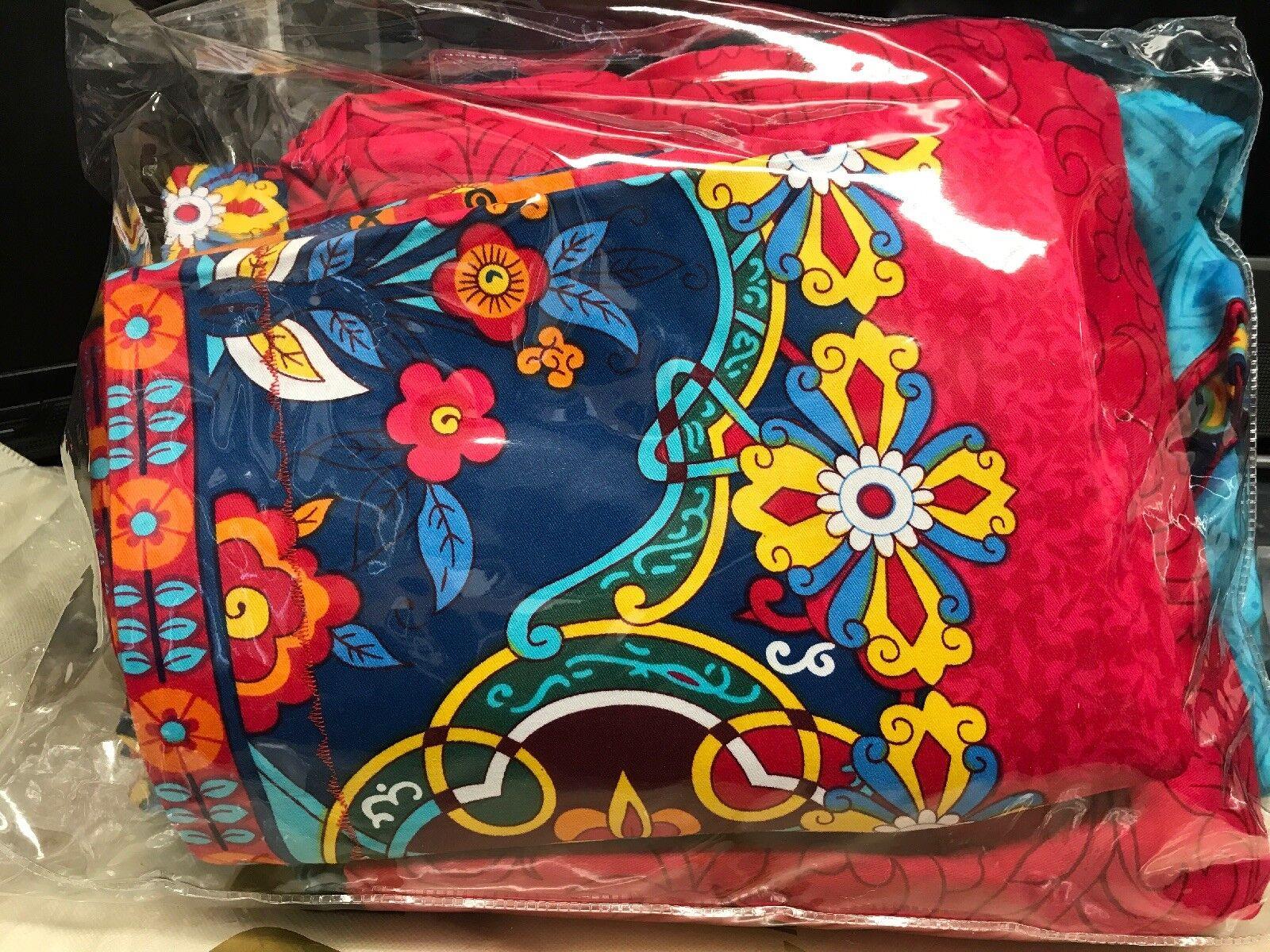 FADFAY 4 Pcs Königin Bettding Set SuperSanft Brushed Cotton Stripped Boho Style