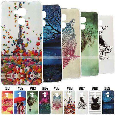 Luxury Retro Rubber TPU Gel Back Gel Soft Skin Phone Case Cute Cover For Huawei