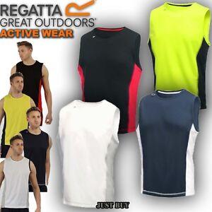 Regatta-T-Shirt-Men-Vest-Sport-Hiking-Walking-Running-Gym-Cycling-Sleeveless-Top
