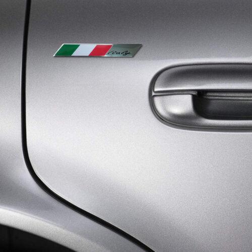 Universal Italy Italian Flag Metal Emblem Badge Motorcycle Car Decor Sticker