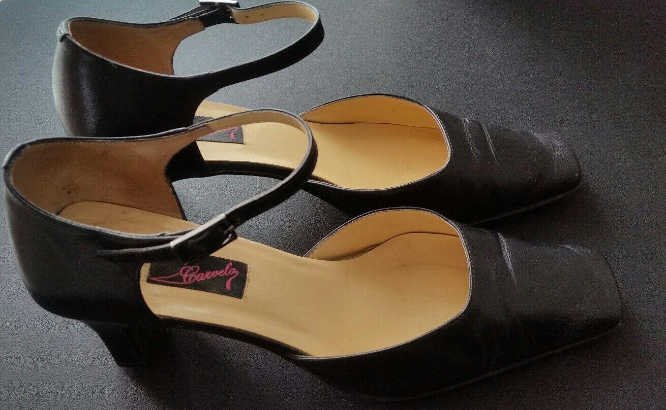 Carvela Damenss schwarz Leder mary janes Sandales Größe pumps Größe Sandales 38 5 schuhe f20cec