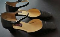 CARVELA Ladies Shoes Size 38 EUR 5 UK Black Made in Italy Sandals Ankle Strap