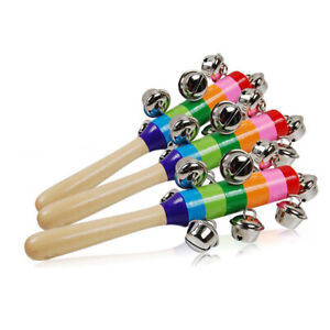 Baby-Kids-Rainbow-Wooden-Handle-Bell-Jingle-Stick-Shaker-Rattle-Toys-AT-Gift-UK