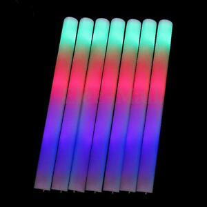 25-PCS-Light-Up-Foam-Sticks-LED-Wands-Rally-Rave-Batons-DJ-Flashing-Glow-Stick