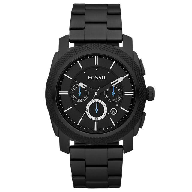 Fossil Men FS4552 Round Chronograph Dial Stainless Black Ip Band Watch