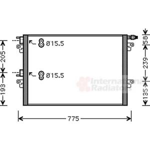 Condensateur Climatisation-VAN WEZEL 43005382