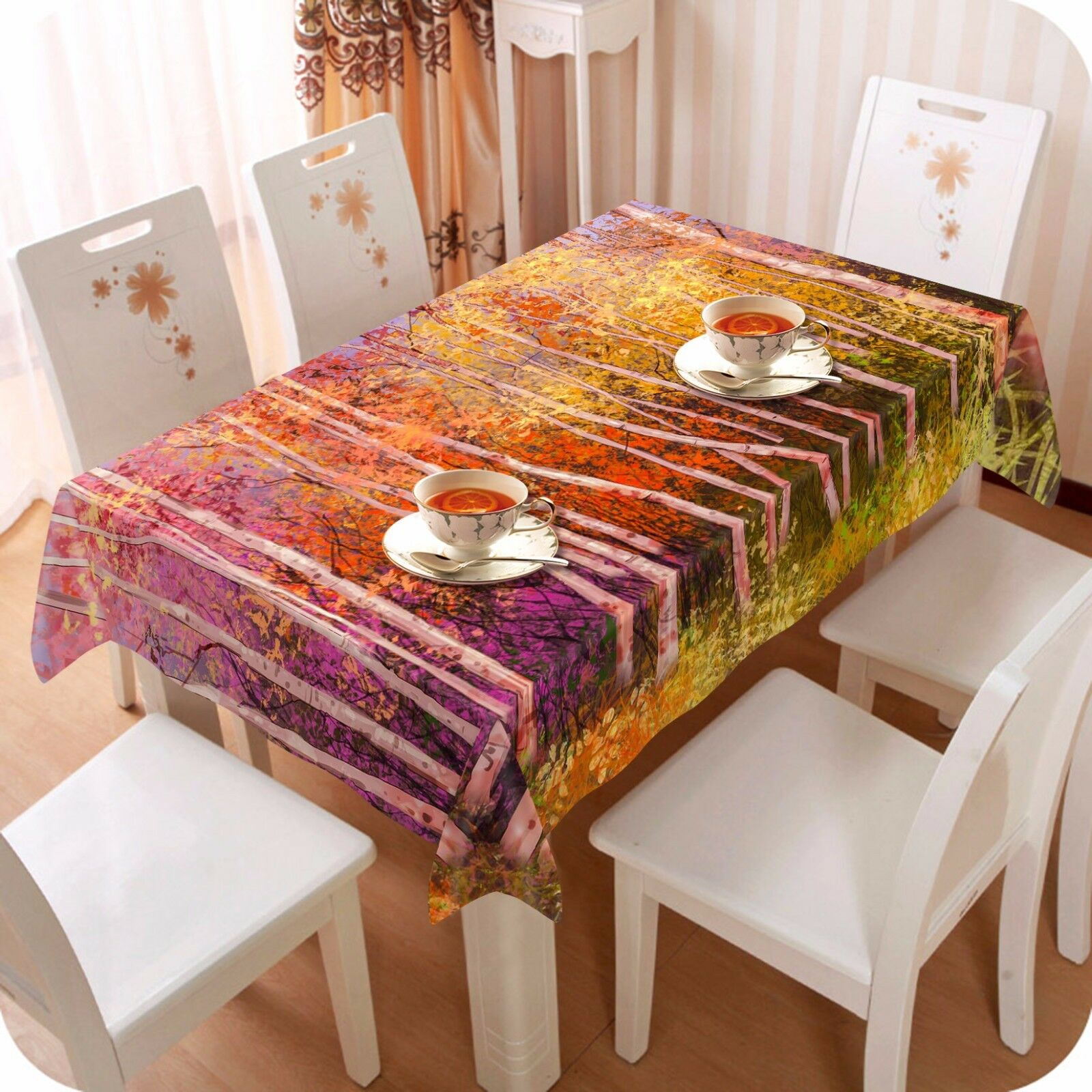 3D Couleur Trees 31 Tablecloth Table Cover Cloth Birthday Party Event AJ WALLPAPER
