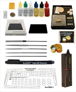 Efficient Gold/silver Test Acid Tester Kit 10k 14k .999 .925 Sterling Testing Stone Detect Easy To Use Publications & Supplies
