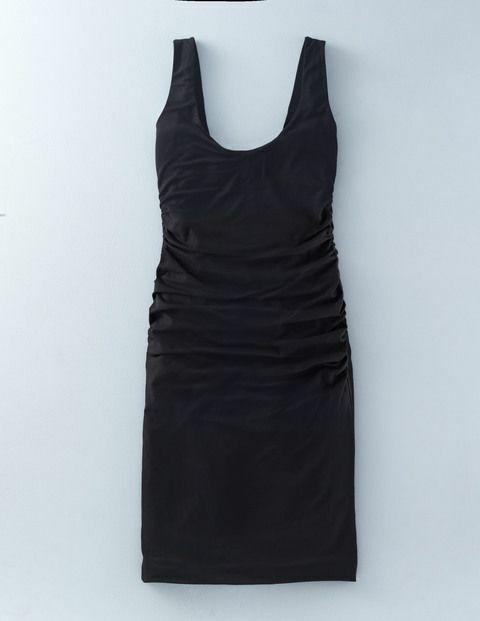 Boden Kleid - Scoop Neck Ruched Dress - Stretch Jerseykleid NL