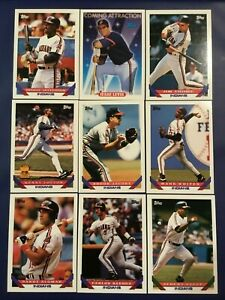 1993-Topps-CLEVELAND-INDIANS-Complete-Team-Set-27-LOFTON-ALL-STAR-ROOKIE-Look