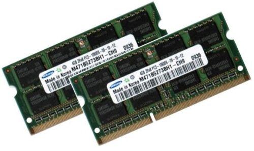 """2x 4gb di RAM 1333 MHz MacBook Pro md311d//a 2,4 GHz 17/"""" Apple ddr3 Core i7 8gb"""