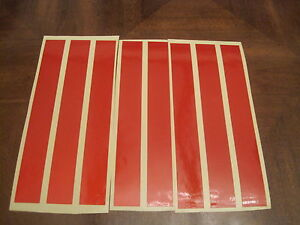 "8 x STICKY RED REFLECTIVE TAPE 8"" x 1""-WEATHERPROO<wbr/>F"