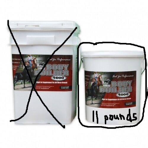 Pennwoods Halter Show Horse BodyBuilder 4000 Weight Gain High Fat Supplement 11