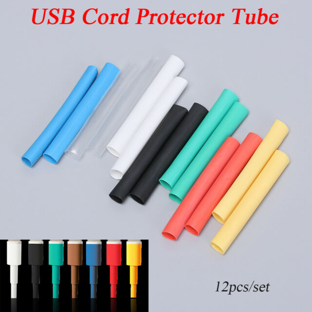 12pcs USB Charger Cable Cord Protector Saver Cover for Apple iPhone 7 8 X
