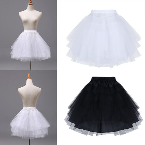 3 Layers Net Girls Petticoat Underskirt Children Flower Wedding Crinoline Slip