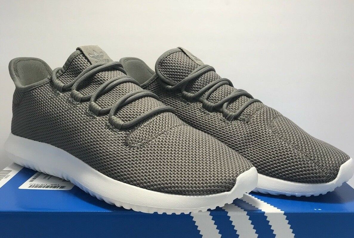 Adidas Mens Size 10.5 Originals Tubular Shadow Grey Athletic Sneakers shoes New