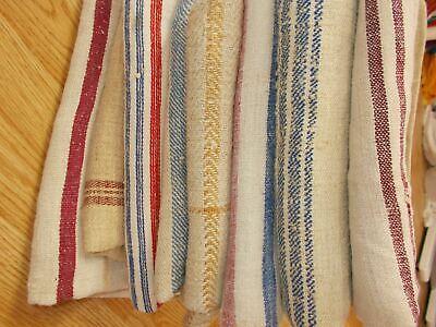 Vintage Striped Feed Sack Yardage