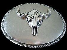 Cow Steer Belt Buckle Texas Longhorn Western Cowboy Cowgirl Boucle de Ceinture
