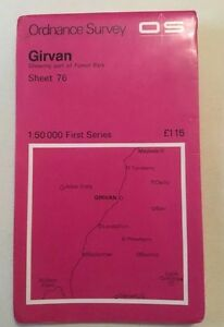 1976 Ordnance Survey First Series Girvan incl Maybole And Barr Map Sheet 76 - <span itemprop='availableAtOrFrom'>Coventry, West Midlands, United Kingdom</span> - 1976 Ordnance Survey First Series Girvan incl Maybole And Barr Map Sheet 76 - Coventry, West Midlands, United Kingdom