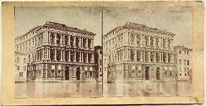 Venezia Palais Ca' Pesaro Italia Fotografia Stereo Vintage Albumina c1860