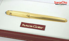 Limited Edition Pasha de Cartier 1990 18K Yellow Gold Plated Fountain Pen