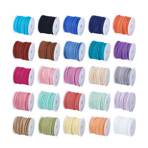 Assorted-Faux-Suede-Cord-Imitation-Leather-Lace-Craft-Making-Soutache-Thread-4mm