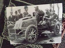 """8"""" x 6"""" PRESS PHOTO - GOBRON-BRILLIE AT SPEED TRIALS IN 1904 - 1966 PRINT"""