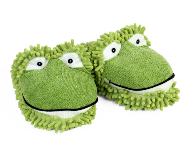 32703947404 Aroma Home Fuzzy Friends Slippers Frogs Fun for Feet Fits UO to 9 1 ...