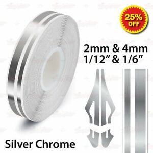 "12mm 1//2/"" PinStriping Pin Stripe 2mm /& 4mm Tape Decal Vinyl Sticker GOLD CHROME"
