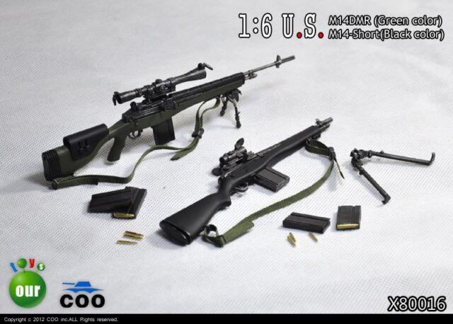 COOMODEL COO US Military M14 DMR & M14 Short Sniper Rifle Set 1/6