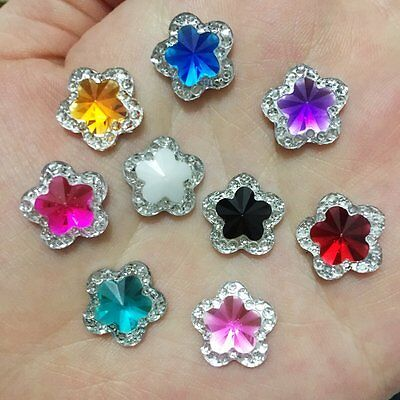 40PCS Round/Flower shape Resin Random mixed  flatback Scrapbooking for phone