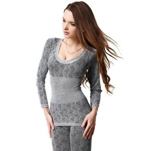 1bc2811ce7 Women s Warm Thermal Underwear Set Long Sleeve New Pajama for Winter ...