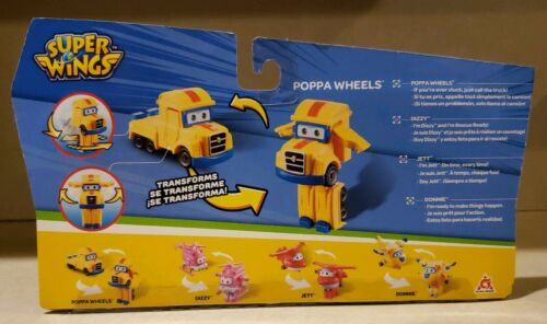 Jett /& Donnie Dizzy papa roue Super Wings Transformer Toy Figures