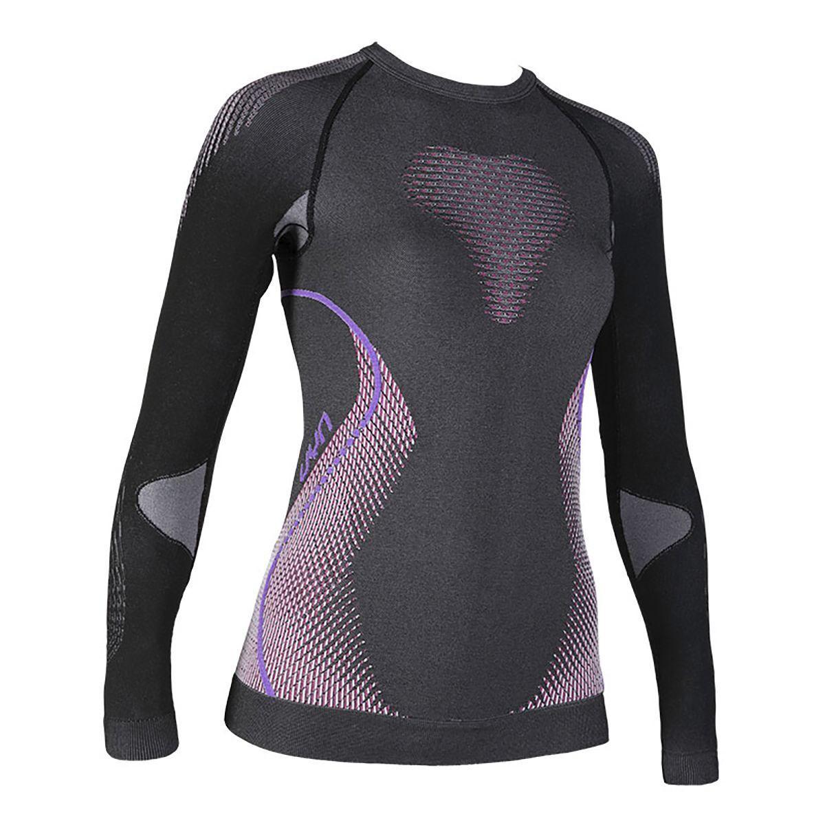 UYN -Evolutyon Baselayer Shirt- Maglia Termica daSie- Anthr lila- U100019 G980