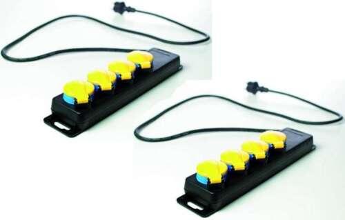 2x 4 fach Steckdosenleiste für Aussen Mehrfachsteckdose H07RN-F Mehrfachstecker