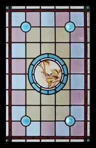 Stained Glass Windows Architectural & Garden Beautifully Painted Bird Antique English Victorian Stained Glass Window Quality And Quantity Assured