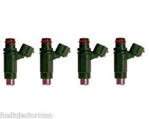Genuine Bosch Set Of 4 Fuel Injectors For 2004 Mitsubishi Lancer Outlander 2.4L