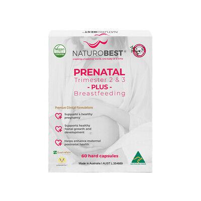 Details about  NEW NaturoBest Prenatal Trimester 2 & 3 Plus Breastfeeding 60 Capsules